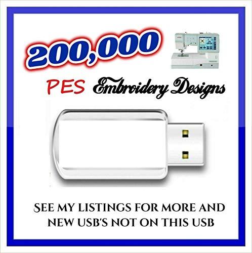 200k PES Bordado Diseños en un USB Stick PES Diseños JEF Diseños o HUS Diseños