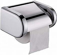 XYZMDJ Metalen toiletrolhouder met toiletpapierhouder met plank - roestvrijstalen toiletrolhouder zelf of wandmontage voor...