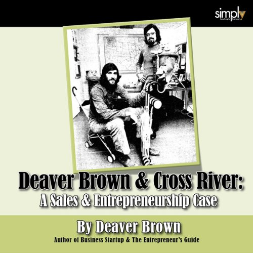 Deaver Brown & Cross River audiobook cover art
