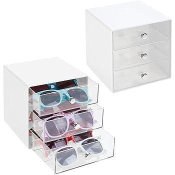 Box de Rangement à 3 tiroirs en Plastique Boite à Lunettes