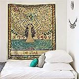 Mandala tarjeta de tarot patrón manta tapiz colgante de pared...