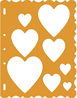 Fiskars 48557097 ShapeTemplate Tool, Hearts with Victorian Border