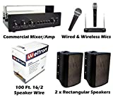 KIT Outdoor PA Sound System Bundle Baseball Field Stadium Horse Arena Easy Install Speakers (Speakers White or Black- Depends on Inventory) Baseball, Race Track Public Address Outdoor PA Sound System