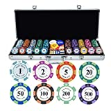 Set de Poker/Póquer, Ultimate Pokerset, Maletín Poker Profesional, 100-500...
