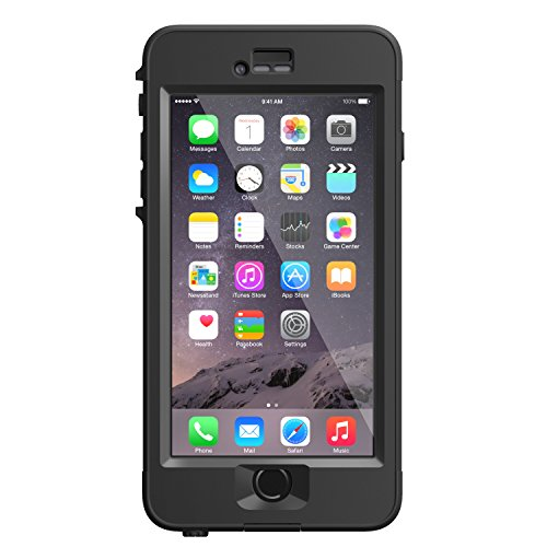 """LifeProof NÜÜD iPhone 6 Plus ONLY Waterproof Case (5.5"""" Version) - Retail Packaging - BLACK"""