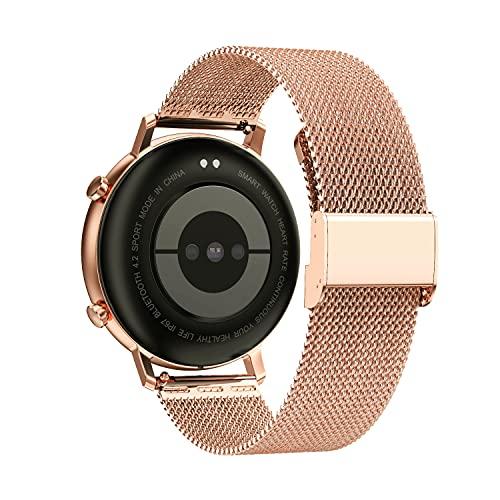 YGRY Correa de Reloj para Reloj Inteligente, Metal Watch Strap de Malla de Acero Inoxidable de 18 mm / 20 mm / 22 mm Pulseras de Repuesto de liberación rápida para Hombres y Mujeres (22 mm, Oro Rosa)