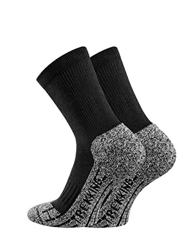 TippTexx24 Trekkingsocken, 6 Paar Trekking Socken Coolmaxsocken, Black, 43/46