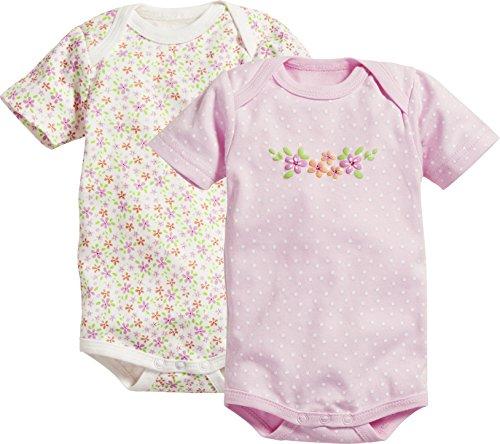 Schnizler Body 1/4-Arm 2er Pack Blumen, Beige (Beige 6), 1-2 Ans (Taille Fabricant:86/92) Mixte bébé