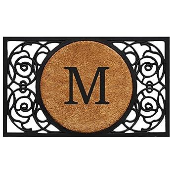 Calloway Mills 180032236M Armada Circle Monogram Doormat 22  x 36   Letter M