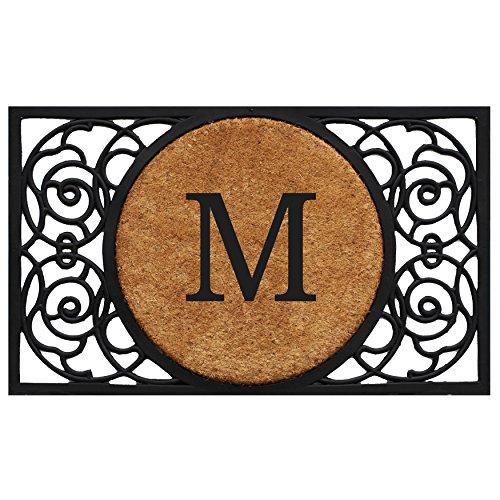 "Home & More 180031830M Armada Circle Monogram Doormat 18"" X 30"" (Letter M)"
