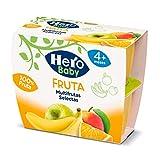 Hero Baby Tarrinas de Puré Multifruta Selecta para Bebés a partir de 4 meses Pack de 6 unidades de 4 x 100 g
