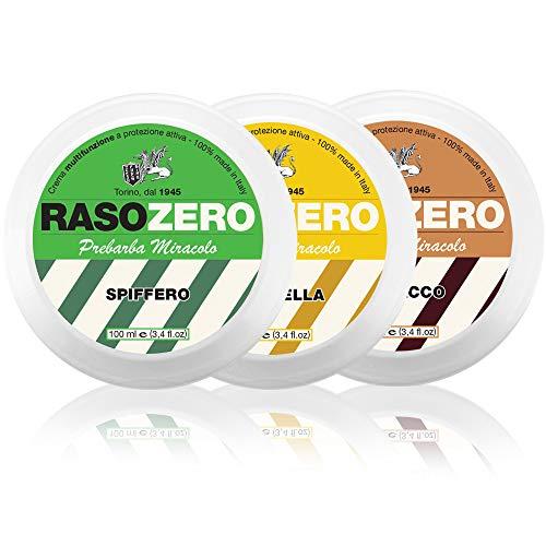 Rasozero Set 3 Prebarba da 100 ml - Agrumella, Barbacco e Spiffero