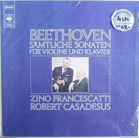 Beethoven: Sämtliche Sonaten für Violine und Klavier [Vinyl Schallplatte] [4 LP Box-Set]
