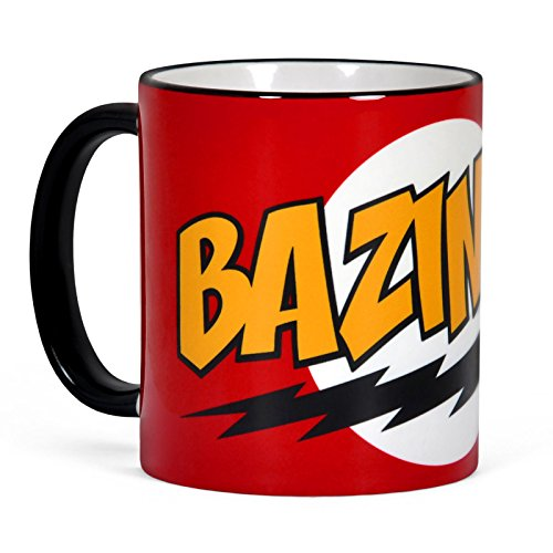Elbenwald Big Bang Theory Bazinga Taza de café de Sheldon de cerámica, Color Rojo