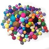 YXJD 150pcs Filzkugel 100% Wolle Ball in 12/15/20/30mm Filzperlen Mehrfarbig zum Basteln Zimmer Party Hochzeit Deko