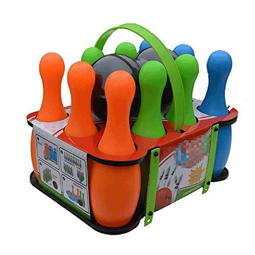 Bowling Spielzeug Spielset Junge Und Mädchen Spiele Bowling-Pins Mit Bunter Kunststoff-Partei Bowling Begünstigt Frühe Kindheit Pädagogisches Spielzeug Sport-Kit 12 Geschenk For Kinder Baby Bowling Se