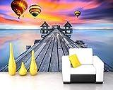 Murando Fotomurales Envío Gratis Mar Puesta De Sol Puesta De Sol Playa Naturaleza Paisaje Tv Sofá Pared Hotel Vestíbulo Decoración Papel Pintado Dormitorio 3D Mural Personalizado 350 * 245 Cm