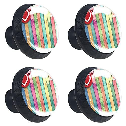 Juego de 4 tiradores de cristal de 35 mm para cajones de cocina, pomos de cocina, armarios y armarios, madera colorida de 3,18 pulgadas