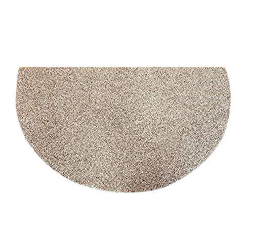 M.Service Srl Tapis demi-lune en moquette grise, fond en PVC, dimensions H 33 x 67 cm