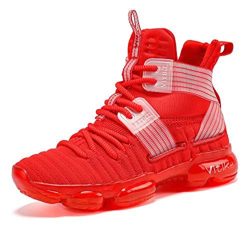 Basketballschuhe Jungen Sneakers Kinder Sportschuhe Turnschuhe Mädchen Hallenschuhe Outdoor Laufschuhe für Unisex Herren Damen Rot gr 39