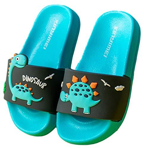 Vorgelen Zapatos de Playa y Piscina para Niños Bañarse Chanclas para Niña y Niño Zapatillas Baño de Estar por Casa Verano Azul Negro 34/35 EU = Fabricante 35/220