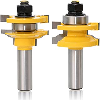 Yakamoz 1/2 Inch Shank 2-Piece Large Ogee Stile and Rail Router Bit Set Up to 1-Inch Stock & 3/8 Cutting Radius