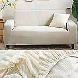 LINL Sofá Cama Jacquard protección sólida y setos Gruesos para Cubrir sofá Viviente para sofá Impreso,Crema,2 Lugares 145-185cm