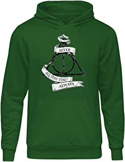Harry Potter Always Yeşil Kapşonlu Hoodie