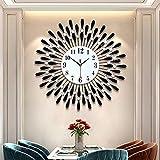 KONGLZG Reloj De Pared, Sala De Estar, Reloj De Pared De Cristal...