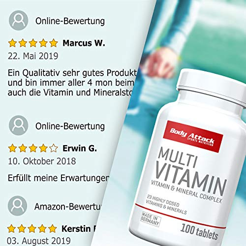 Body Attack Multi Vitamin, 100 Tabletten - 7