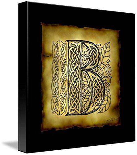 Wall Art Print entitled Celtic Letter B by Kristen Fox