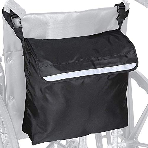 Rubyu Rollstuhl Tasche 46X41X20cm, Universal Multifunktions Rollstuhltasche, Rollstuhl-Zubehör Veranstalter, Befestigung an den Griffen, Wasserdicht, für Mobilitätshilf Rollstuhl