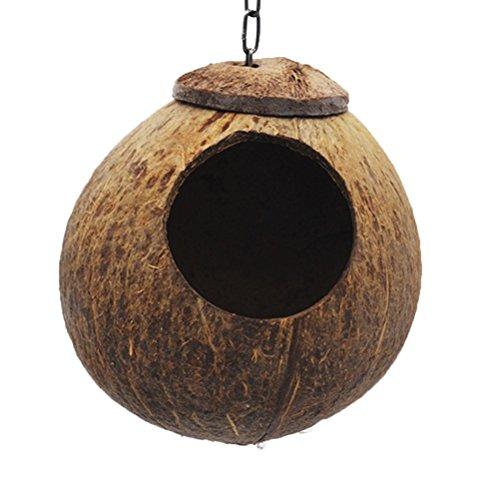 UEETEK Nest Kokosnest für Budgerigar und kleine Tiere