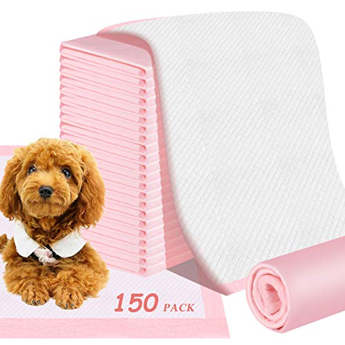 FPVERA Thickened Puppy Training Pads for Dog Pet Pee Super Absorbent Toilet Pee Wee Mat Anti Slip Leakproof Dog Toilet Pee Mats Disposable (150 PACK-33 45CM)