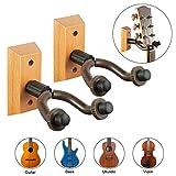 Gitarren Haken 2 Stück Gitarrenhalter Holz Gitarre wand Halterung Gitarren Aufhänger Gitarre Wandhalterung Gitarrenständer für...