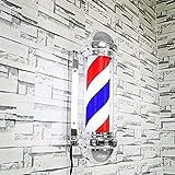 Palo del Barbiere Con Superiore Lampada Impermeabile Luminoso Girevole, Paletto luminoso a LED per barbiere con illuminazione a palo luminoso per parrucchiere (spina europea)