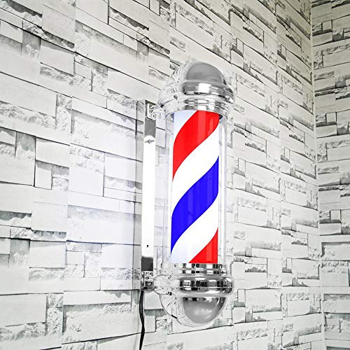 UE Duevin 68cm LED Barber Shop Sign Rotating Illuminating Pole Bright Stripe Light pour Salon de coiffure