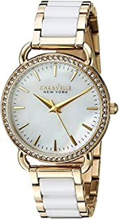 Caravelle New York Women's Stainless Steel Quartz Watch with Ceramic Strap, Two Tone (Model: 44L172)