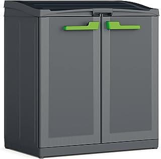 Kis 9961200 0708 02 Cabinet Recyclage Moby Anthracite-Gris, Plastique, 90 x 55 x 100 cm
