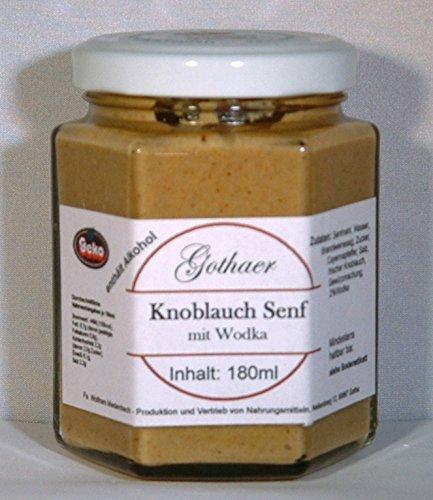 Original-Gothaer-Senf im Sechseckglas a´180ml - OVP - in Varianten (Knoblauch-Senf mit Wodka)