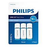 Philips Pack 3 USB 2.0 16GB Snow Edition Blue