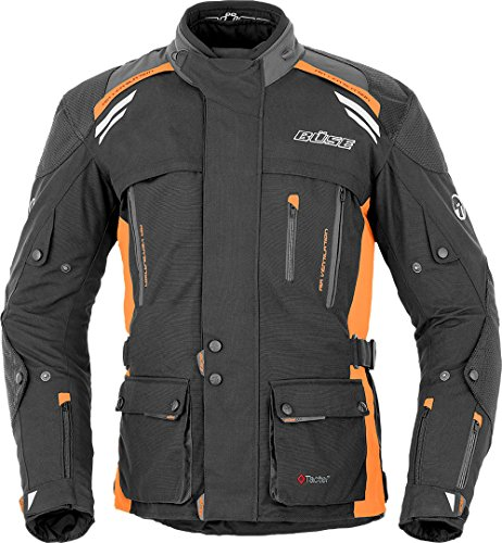 Büse Jacke Highland, schwarz/orange, 60