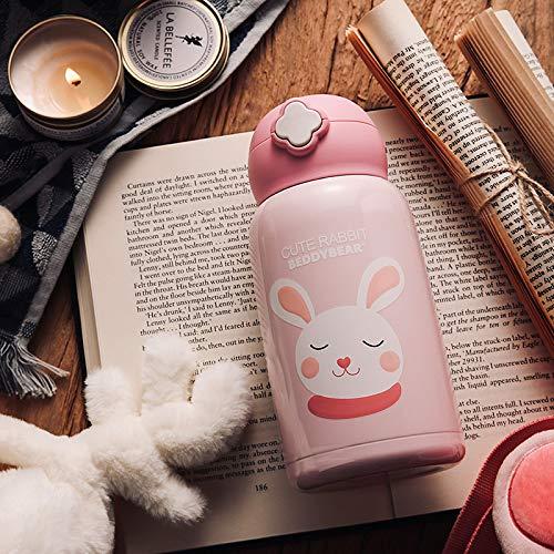 Täglicher Bedarfgerade Getränkebecher Mit Strohplüsch Tasse Kaninchen Tasse Süße Männer Und Frauen Tragbaren Wasserkocher Plüschkaninchen 630Ml