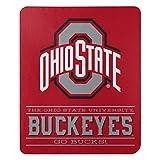 NORTHWEST NCAA Ohio State Buckeyes Fleece Throw Blanket, 50' x 60', Control