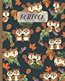 """Notebook: Cute Squirrels with Pine Cones & Acorns - Lined Notebook, Diary, Track, Log & Journal - Gift Idea for Boys Girls Teens Men Women (8""""x10"""" 120 Pages)"""