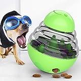 Bestio 猫犬 おやつおもちゃ ペット給餌おもちゃ おやつボール 丈夫で長持ち 猫犬の遊び好き天性満足 IQ&挙動激励 運動不足解消 知育玩具 知育トイ 倒れないエッグ(グリーン)