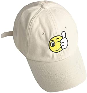 Hats Male Lady Fashion Outdoor Leisure Creative Cap Spring Smiley Baseball Cap Fashion (Color : Beige, Size : F)