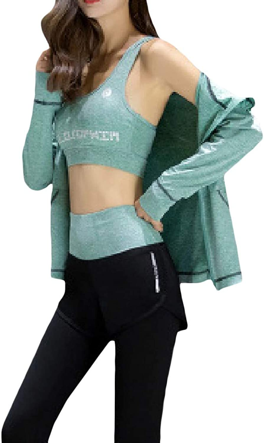 TaoNice Womens Cool Dry Casual LongSleeve Spring Gym Activewear Summer Running Sports Sports Activewear Set Top&Pants