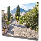 Einfach schönes Mallorca Bild auf Leinwand, Pollensa als