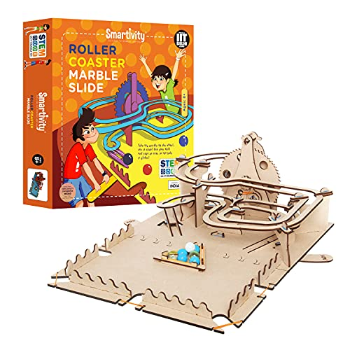 Smartivity Roller Coaster Marble Slide STEM DIY Fun Toys, Educational Construction based Activity Game for Kids 8 to 14, Gifts for Boys & Girls, Learn Science Engineering Project, Made in India